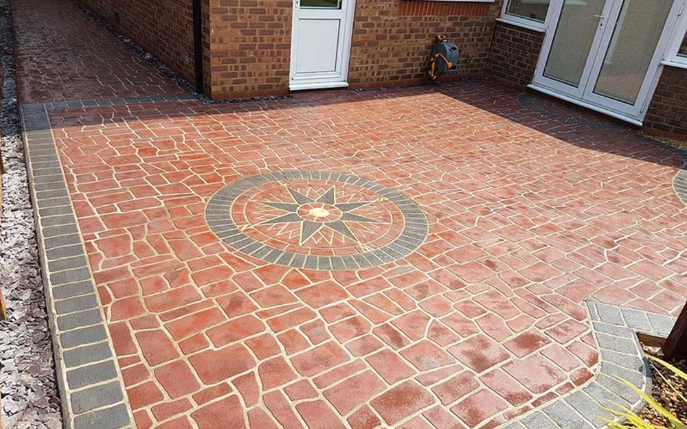 stencil pattern concrete