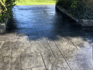 imprinted concrete patio ellesmere port