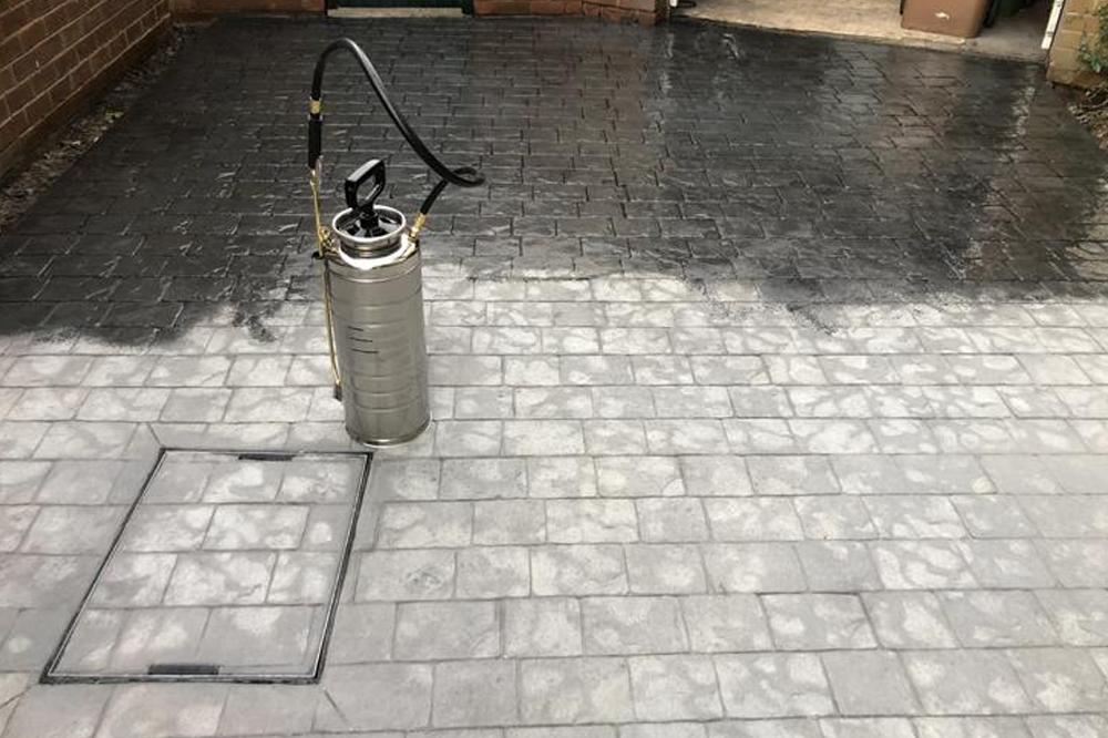 clean reseal concrete
