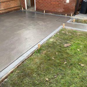 concrete patio connahs north wales