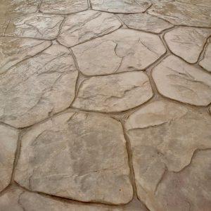 random stone concrete paving