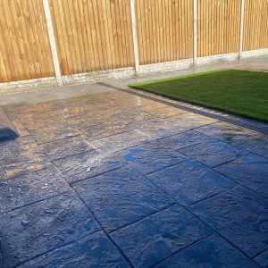 imprinted concrete patio wirral